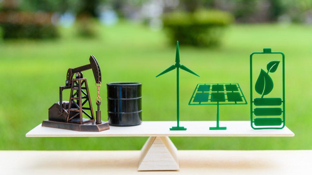 Erneuerbare Energien vs. fossile Energien